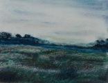 """Blue Pasture"", soft pastel on paper 9"" x 12"""