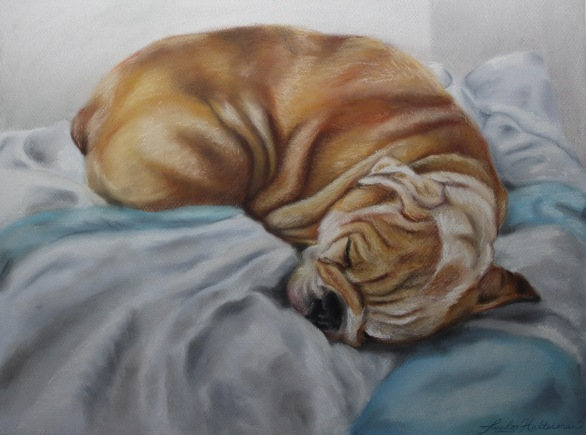 """Lulu"", soft pastel on paper, 12"" x 16"""