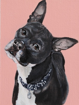 """Belle"", acrylic on canvas, 4""x 6"""